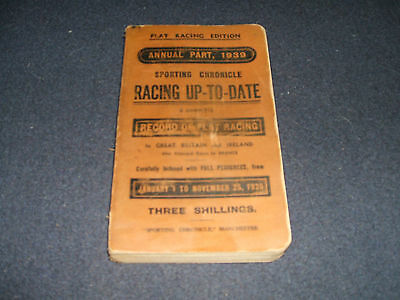 1939 Sporting Chronicle UP-TO-DATE (Flat Racing Edition)