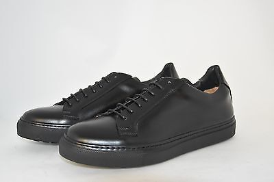 MAN-42-8eu-9usa- SNEAKER BLACK CALF -VITELLO NERO - RUBBER SOLE - SUOLA GOMMA