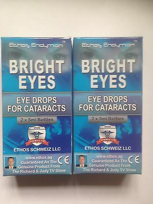 Ethos Bright Eyes NAC Eye Drops Natural Treatment for Cataracts 2 Boxes 20ml