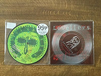 """Levellers 7"""" Picture Disc This Garden & The Julie EP On Clear Vinyl"""