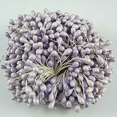 80pc Artificial Flower Stamen Double Tip Pearlized Craft  Cakes Decoration L66