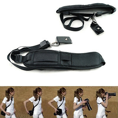 Black Camera Sling Belt Single Shoulder Strap for DSLR SLR Camera Canon Nikon