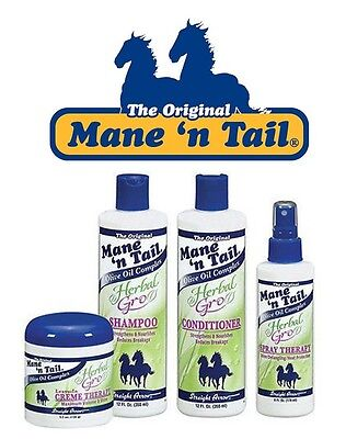 Mane 'n Tail Herbal Gro Shampoo&Conditioner, Spray Therapy, Creme Therapy (Set)