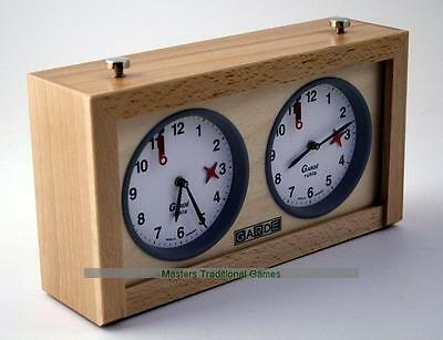 Large GARDE Game Clock - Natural Beechwood