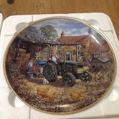 Collectors Plate Off To Work, Ford Tractors By Danbury Mint