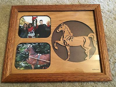 Saddlebred Frame - Add your own Pictures - Really neat Oak Frame