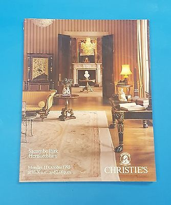 Christie's English Antique Regency Empire Furniture & Antiques 1993 Catalogue