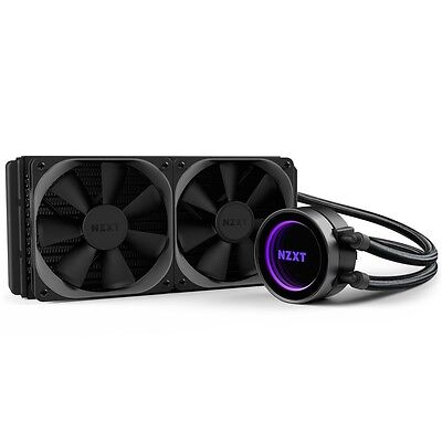 NZXT X62 RGB Kraken 280mm Liquid Cooler AMD Intel CPUs PC Gaming RL-KRX62-01
