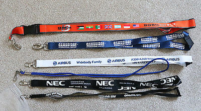 Small set of aviation-related lanyards - Grob, Airbus, Air Tattoo - Excellent