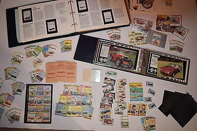 Auto 100 Car Stamp Collection & Albums & Mounts & 1st Day Covers 400+ stamps