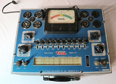 EICO 625 TUBE TESTER - Power Tested Only  Vintage Radio Radios