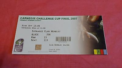 Catalan Dragons v St Helens 2007 Challenge Cup Final Used Rugby League Ticket