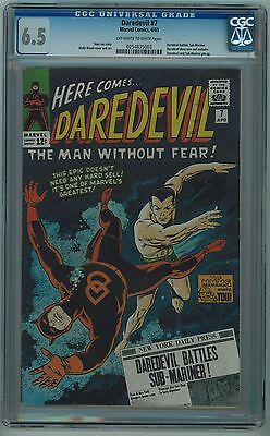 Daredevil #7 Cgc 6.5 1St Red Costume Off-White To White Pages 1965