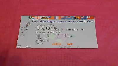 England v Australia 1995 World Cup Final Used Rugby League Ticket