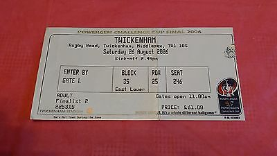 Huddersfield v St Helens 2006 Challenge Cup Final Used Rugby League Ticket