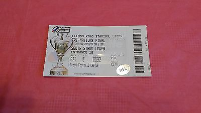 New Zealand v Australia 2005 Tri-Nations Final Used Rugby League Ticket