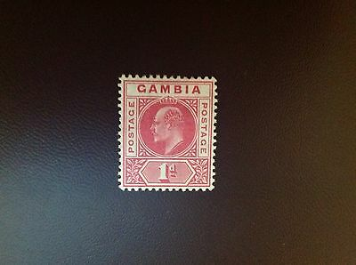 Gambia 1909 MCA 1d Red SG73 MH