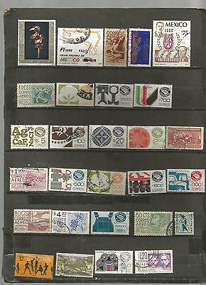 28 timbres du mexique lot reference  06082016 fra222