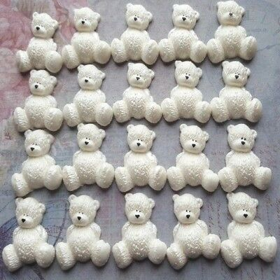 20 Edible sugar AIRBRUSHED baby shower decorations teddy bears cake toppers