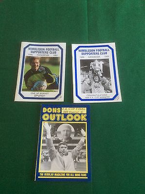 Wimbledon 1988-89 & 1990-91 Football Supporters' Club  Handbook & DONS  handbook
