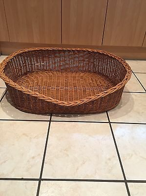 Natural Wicker Large Dog Bed