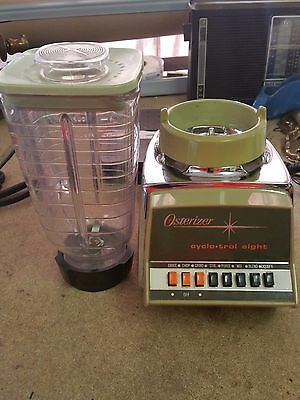 Chrome & Avocado Green Osterizer Cyclo trol - Pulse 8 Blender - 780 Watts USA