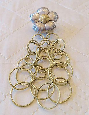 Buccellati single 18 k gold Olympia Magnolia Flower Yellow & White Gold earring