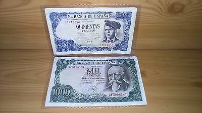 Spanish Banknotes (1971) (x2)