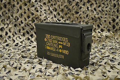 MILITARY 7.62 / 30 Cal M19A1 AMMO CAN VERY GOOD CONDITION * FREE SHIPPING *