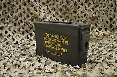 7.62 / 30 Cal MILITARY ISSUED M19A1 AMMO CAN GREAT CONDITION * FREE SHIPPING *