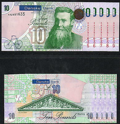 Northern Ireland - Danske Bank £10 notes - First Run - 2013 - In Sequence - UNC