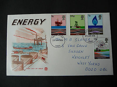 Great Britain First Day Cover Energy 1978