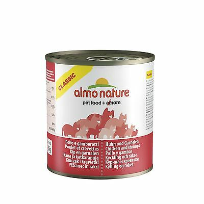 Almo Nature Cat Food Classic Chicken and Shrimps Pack of 12 x 280g