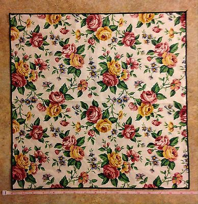 NEW, Longaberger Floral Fabric Napkin - Pink, Yellow, Blue, Green & White