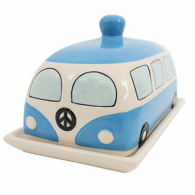 Blue VW Campervan Butter Dish With Lid Kitchenware  Serving Dish Dining Table