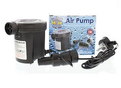 Wild 'n Wet Electric Air Pump for Air Beds, Boats, Mattresses, Paddling Pools ..