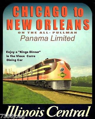 Illinois Central Railroad City of New Orleans  Vintage Designs Custom Tee shirt