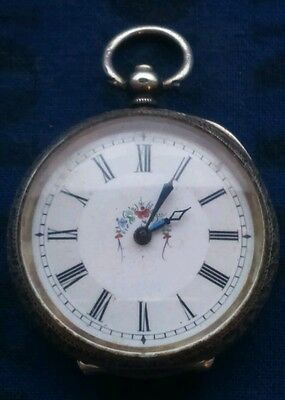 vintage continental 935 silver cased pocketwatch working