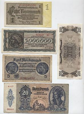 Mix Of Old War Time Bank Notes***Collectors***(BN5)
