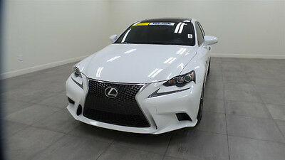 2014 Lexus IS  2014 Red Leather Sunroof Navigation Backup Camera One-Owner