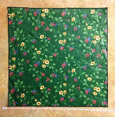 NEW, Longaberger Emerald Vine Floral Fabric Napkin - Pink, Yellow, Blue & Green