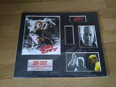 Sin City mounted Film Cells Display -  filmcell movie .limited edition 16/25