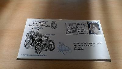 1972 Royal Automobile Club 75Th Anniversary Official Commemorative Cover