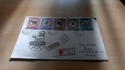 1960 Hungary  Rome Olympics First Day Cover