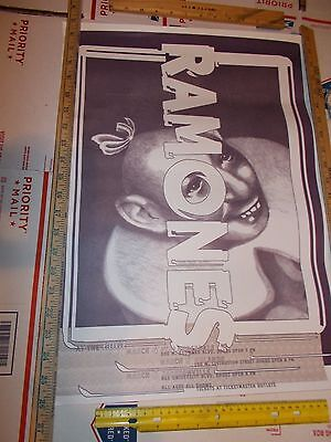ramones poster RARE PIN HEAD ART 1995 FLORIDA