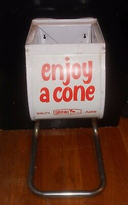 Enjoy A Cone Vintage Ice Cream Holder Dispenser - Excellent Eat-It-All Complete