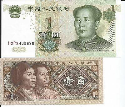 China Lote De 2 Billetes