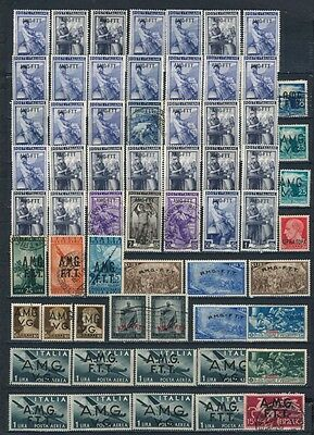 Collection Of Amg-Ftt, Amg-Vg Overprinted Italy 1947 1948 Stamps Mlh Used