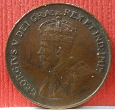 Canadian 1 Cent George V 1921 KM # 28  A-721