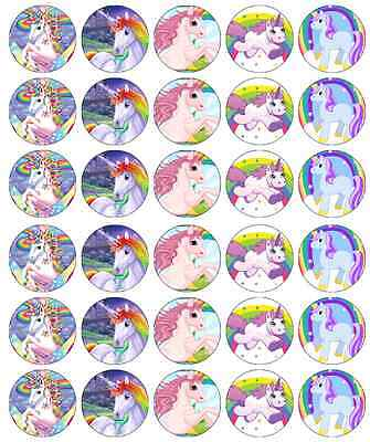 x 30 Unicorn Horse Cupcake Toppers Edible Wafer Paper